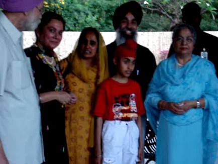 Gurpreet Kaur and Rana Inderjit Singh & family with Sardarni Gursharan Kaur wife of Dr. Manmohan Singh.