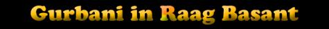 Gurbani in Raag Basant